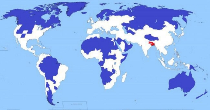 Five percent in the red area, and another 5 in the blue.