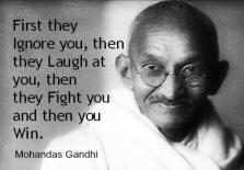 Gandhi First Ignore